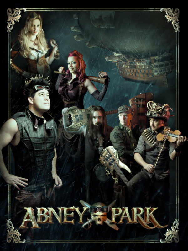 Abney Park Storm Poster - Autographed and Numbered
